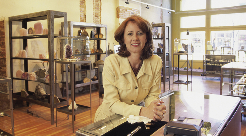 Portrait of a female jeweler smiling